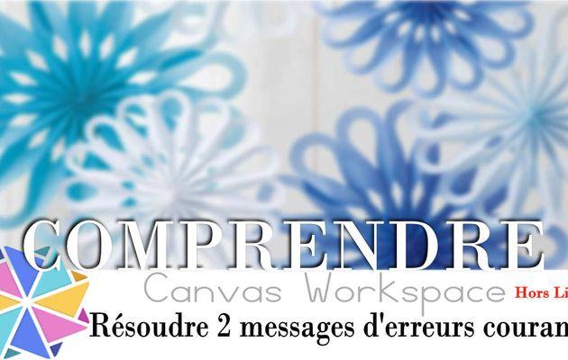 Résoudre 2 messages d'erreurs sur Canvas Workspace...