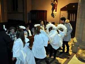 Messe de Noël à l'église saint Jean-Baptiste à Algrange en 2014