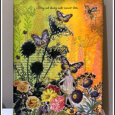 PAGE ART JOURNAL FLORALE