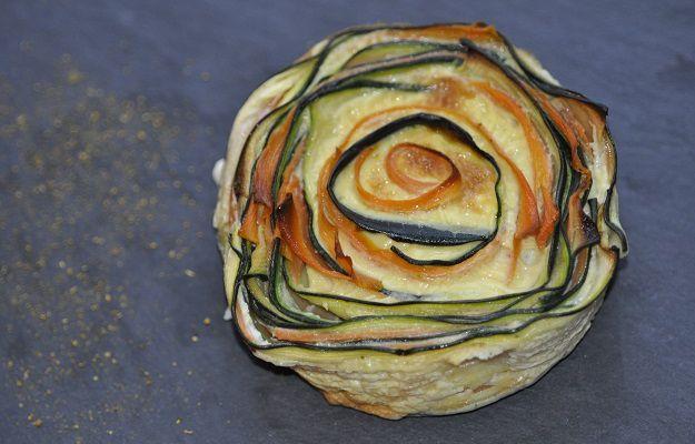 Quiche sans pâte spirale de légumes