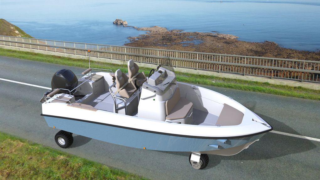 Tringa, le tout premier bateau qui peut circuler sur la route!