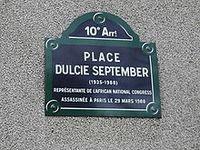 Dulcie September, souvenons-nous  ()()()