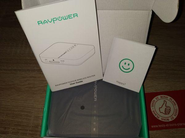 unboxing du boîtier de voyage sans fil multifonctions RAVPower Filehub @ Tests et Bons Plans