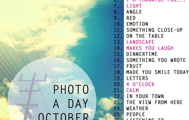 Photo a day - October 2012