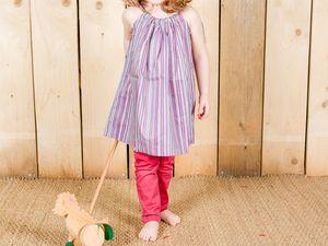 Robe boutonnée Minabulle et robe coulissée Petite Chérie-Obéron. Legging Ma Poule.