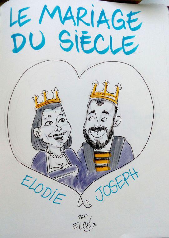 Livre d'Or de Mariage illustré - Elodie & Joseph