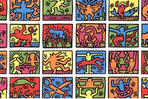 Portrait d'artiste Keith Haring chez Christine B