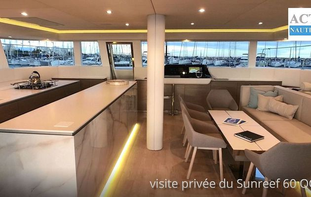Yachting - Visite privée d'un catamaran de grand luxe, le Sunreef 60 OCA