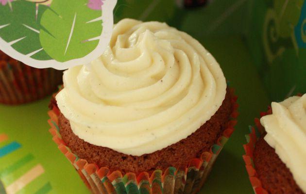 Cupcakes chocolat, topping mascarpone-vanille {+ 2 ans de Mini-choux}.