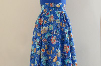 Robe de printemps bleu Egyptien