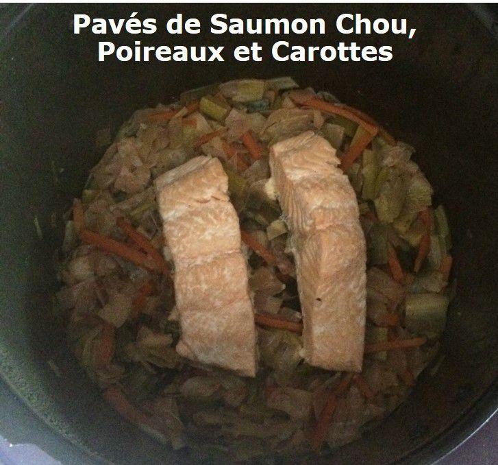 Pavés de Saumon Chou, Poireaux et Carottes