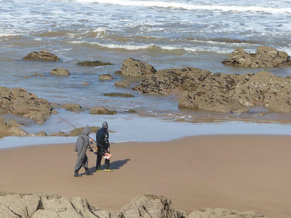 """La plage de Foum Assaka et le """"Rayon vert""""."""