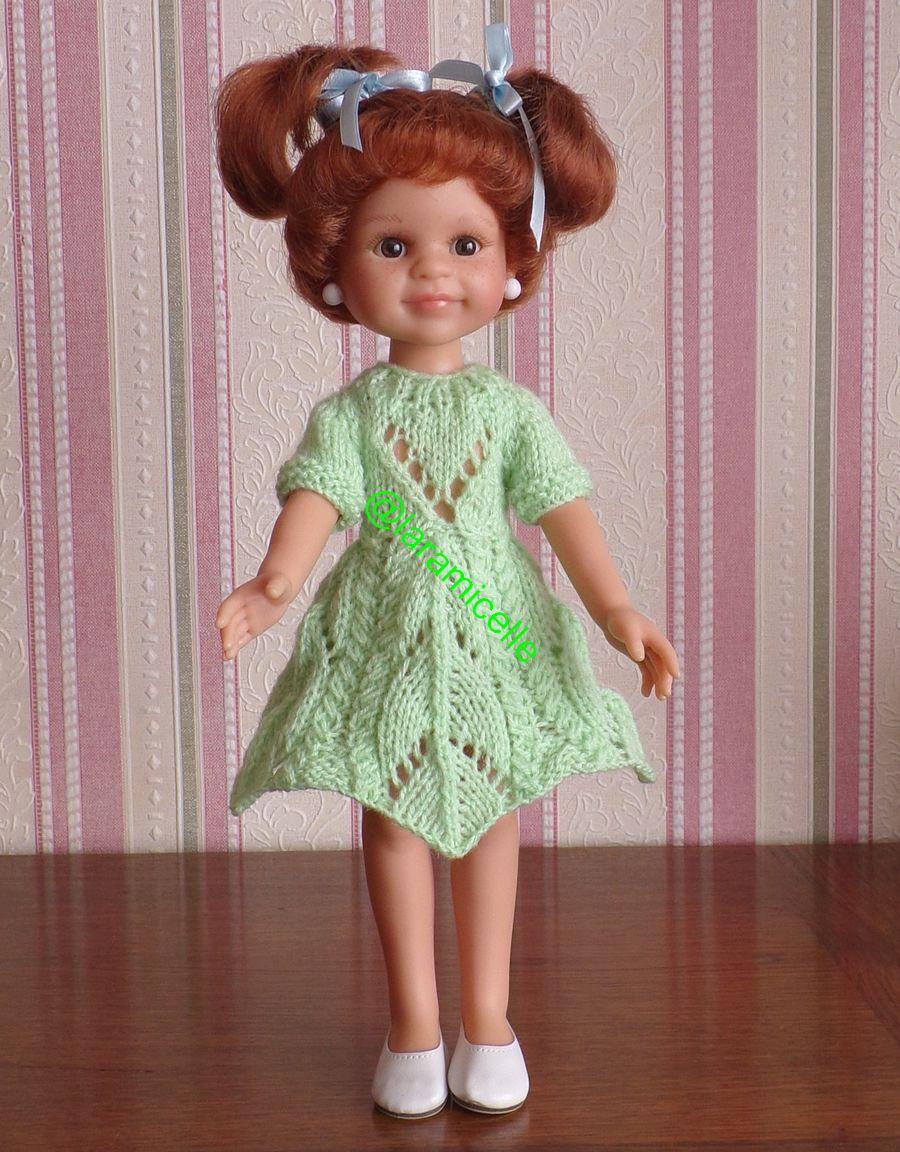 tuto gratuit  poupée  : robe printanière