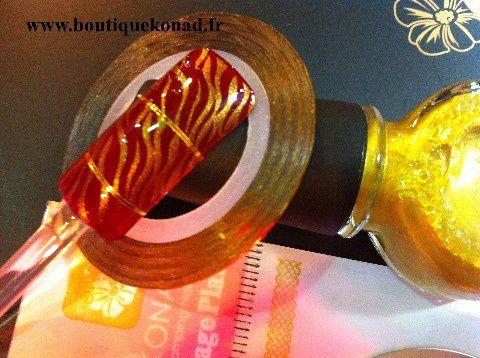 Stripping Tape or sur stamping Konad M69