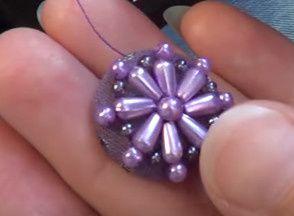 Comment faire des boutons recouverts et perlés