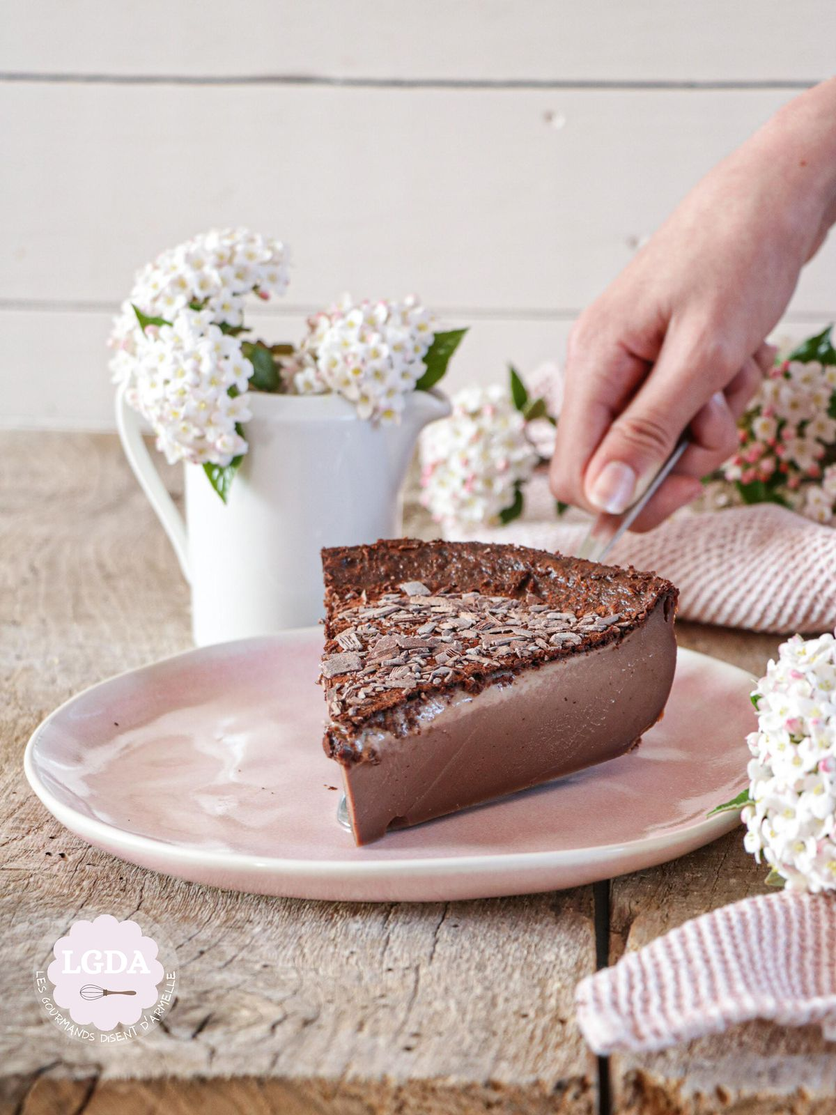 Flan au chocolat sans pâte @ Les Gourmands {disent} d'Armelle