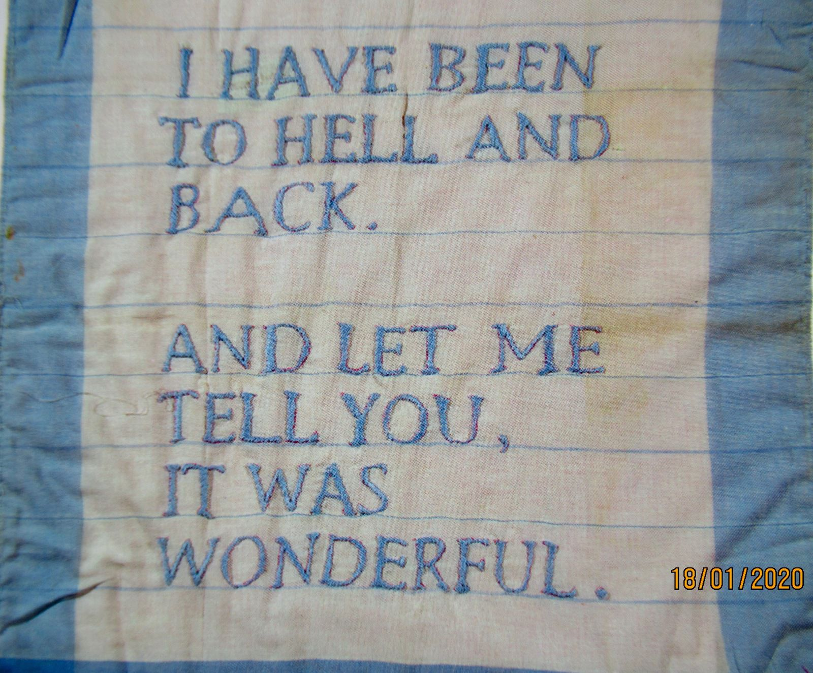 Louise Bourgeois  A piece of Embroidery