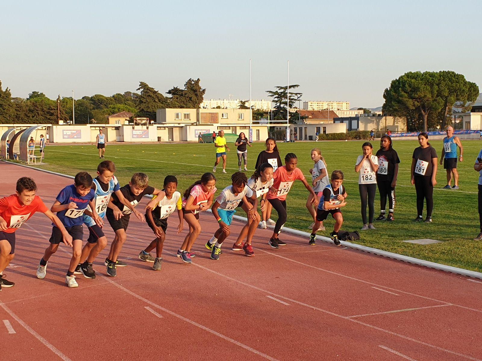 Première série du 800 m - stade Roger Couderc - 23/09/2021