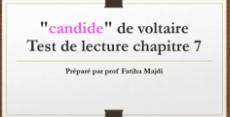 """test de lecture corrigé du chapitre 7 """"candide ou l'optimiste""""voltaire"""