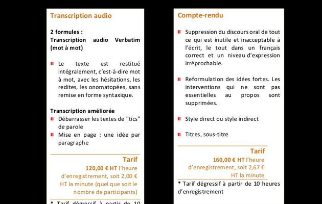Transcription audio allemand et anglais