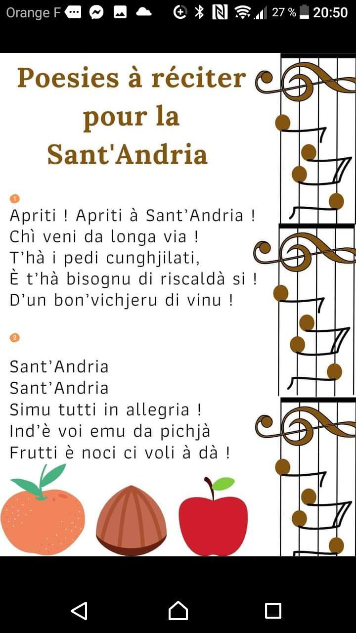 Aujourd'hui, c'est Sant'Andria