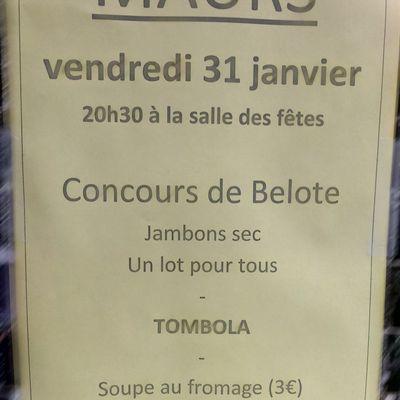 Concours de belote à Maurs