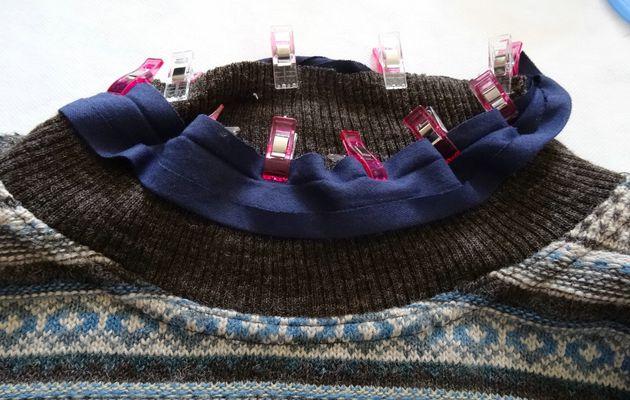 Comment transformer un pull à col roulé en pull à col rond !