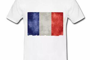 T shirt Drapeau français bleu blanc rouge HBL