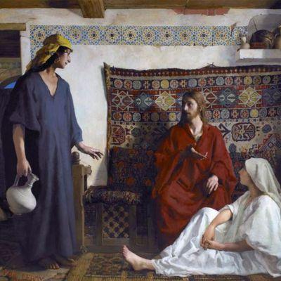 """""""Iisus cu Marta și Maria"""", de Paul Alexandre Alfred Leroy"""