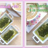 Cabillaud rôti aux herbes et à la moutarde - Les Secrets de Cuisine de Christine