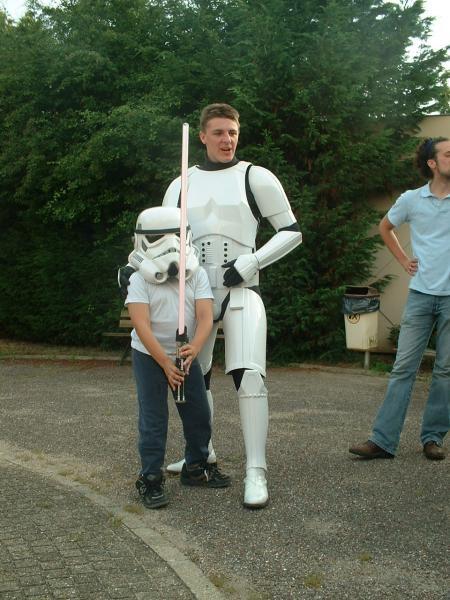 Visite à l'école et au collège des héros de star wars