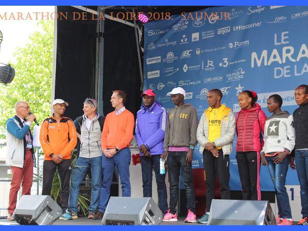Marathon de la Loire 2018. Saumur.