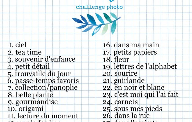 Challenge photos #Flow29jours
