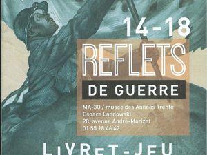 Exposition temporaire Reflets de Guerre. 1914-1918 en lumière Et Musée des Années 30 à Boulogne-Billancourt (92)