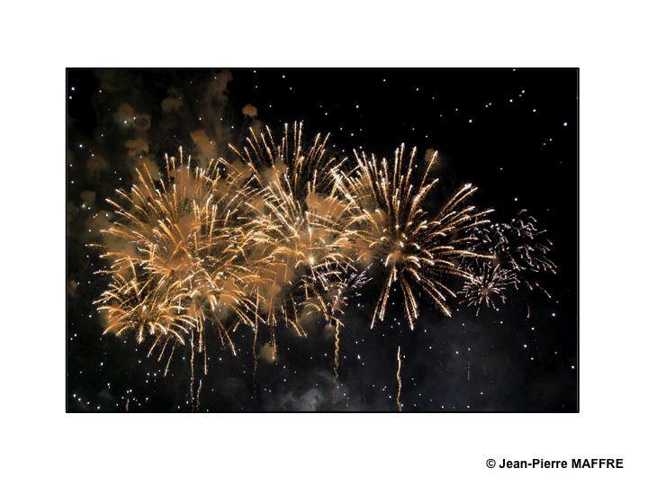 Les feux d'artifices sont toujours de très grands moments d'émotion par leur profusion de couleurs et de sons. Paris, 14 juillet 2008.