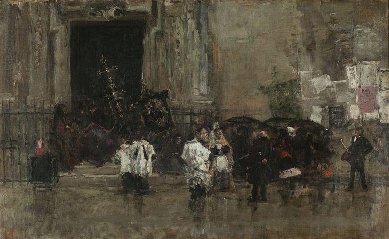 Mariano Fortuny, pintores catalanes, arte sacro, procesiones, Semana Santa,