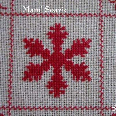 SAL : Plaid Broderie Rouge... Grille  61 / B10