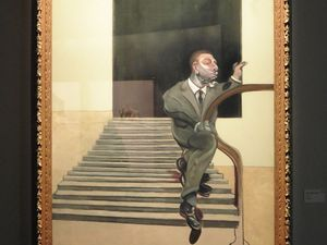 """Francis bacon """"Seated woman"""" (1961), et """"Portrait of a walking man down"""" (1972)"""
