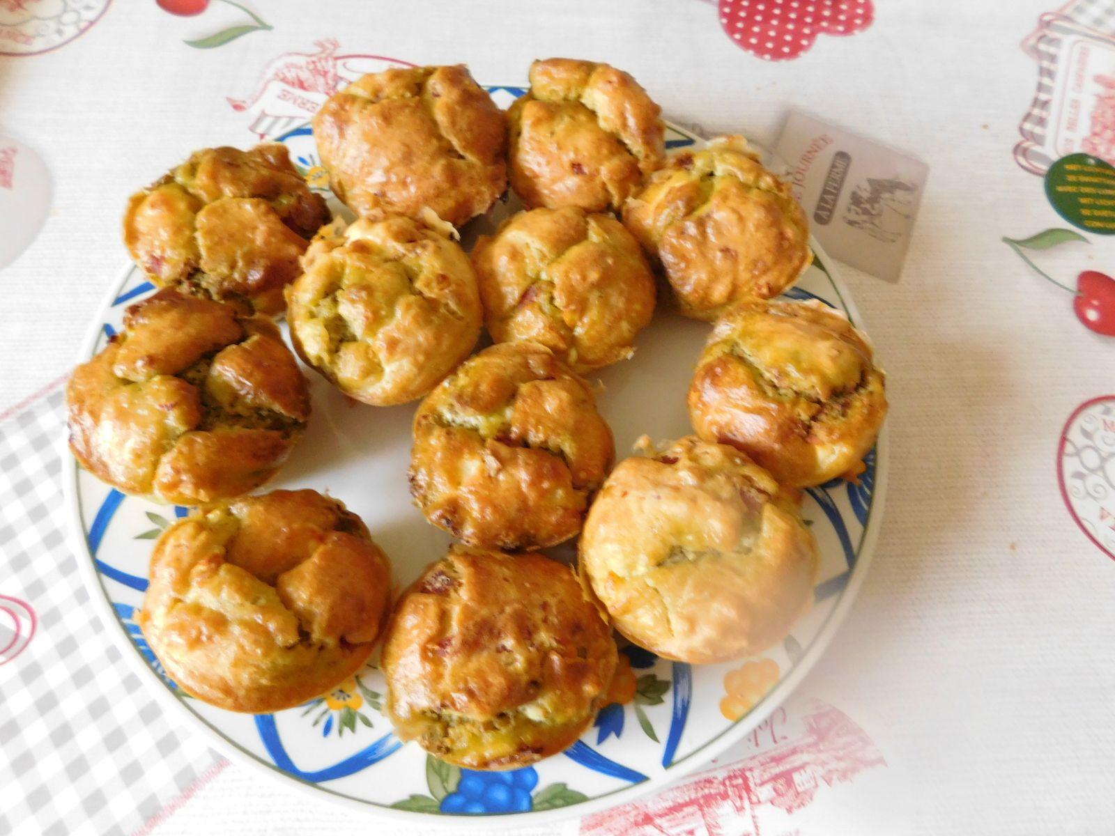 Muffins au pesto et feta