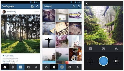 Mobile : Facebook passe Instagram sous android 5.1