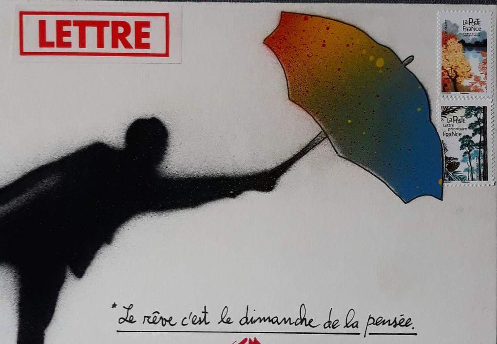 MAIL ART AU POCHOIR