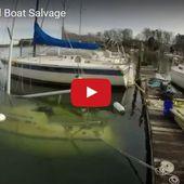 VIDEO - le renflouement d'un voilier en timelapse - ActuNautique.com