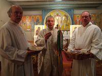 Tombeau du vendredi saint; production de l'atelier oeufs, cierge pascal.