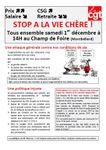 STOP A LA VIE CHÈRE !  Tous ensemble samedi 1er décembre à 14H au Champ de Foire (Montbéliard)