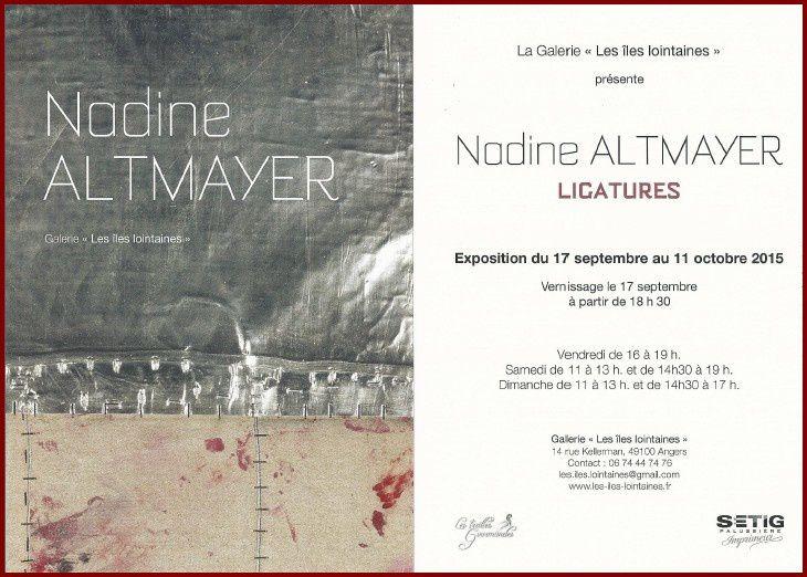 Nadine Altmayer : vernissage - exposition à Angers
