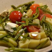 Salade pommes de terre tomates haricots cookeo |