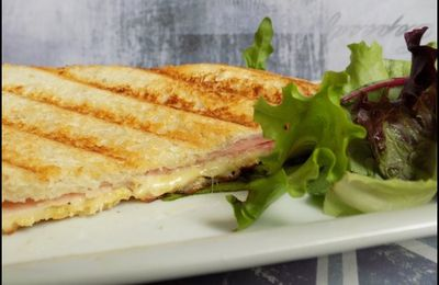 Croque monsieur jambon moutarde