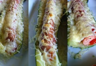 Hot dog de courgettes