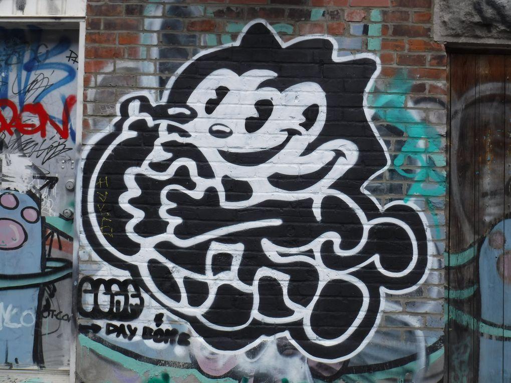 Avec leurs airs de Spike le bouledogue (photo de couverture), Daffy Duck,Heckle et Jeckle, Félix le chat et plus encore... les personnages de Germ Dee animent Montréal avec une pointe d'humour.