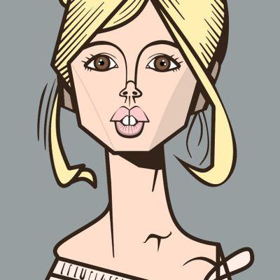 J' ai gribouillé Brigitte Bardot